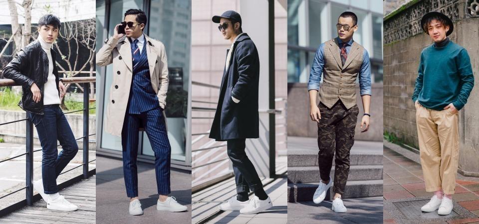 全球潮流人士都在洗版 — Lacoste 極簡皮革白鞋,Dappei 穿搭達人超強穿搭