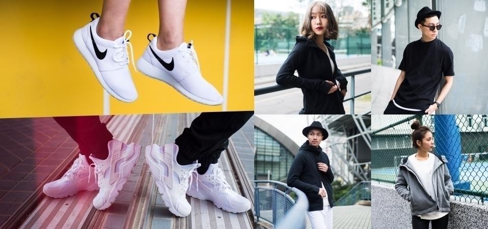 四位網路人氣穿搭達人示範黑白潮流!讓經典NIKE兩大鞋履Roshe One和武士鞋,完美搭配 Tech Pack服飾