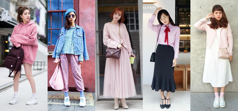 賞櫻花怎麼穿?五套粉色系穿搭,讓妳和櫻花互相襯映!