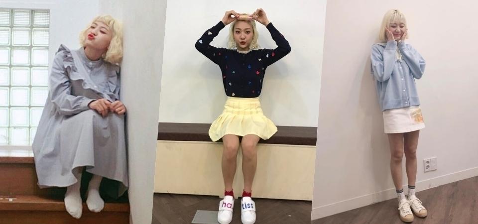韓國「臉紅的思春期」主唱安智英,一頭標誌金色短髮,可愛個性搞怪穿搭超吸睛