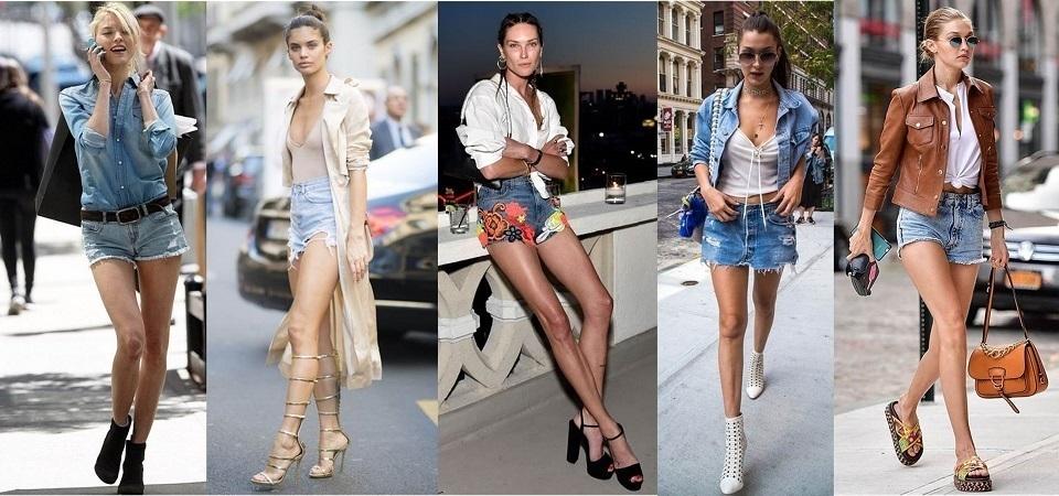 「跟著名模學穿搭」!5 種丹寧短褲穿搭術,讓妳成為街頭嬌點