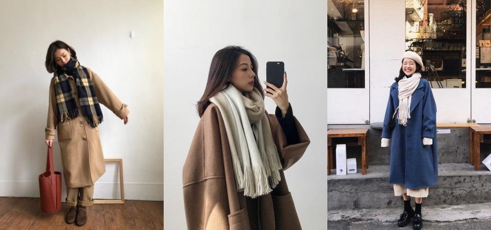 大衣總是穿起來不好看?那是因為圍巾沒搭對!快看 2018 流行的圍巾款式搭配,在寒冬也能很有型