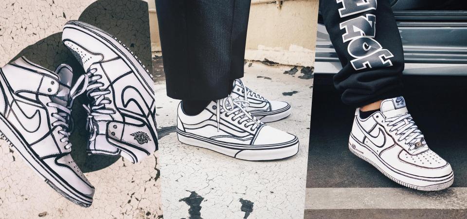 你沒有看錯!宛若把美式漫畫的鞋穿在腳上,最潮 2D 球鞋穿搭來自 Joshua Vides 之手