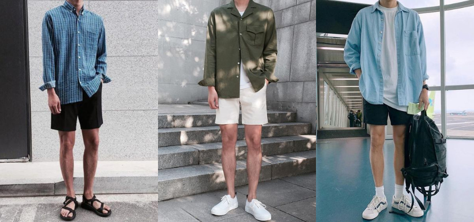 視覺 180 cm 穿搭公式:「廓形襯衫 + 短褲」,修飾身形還內建大長腿!