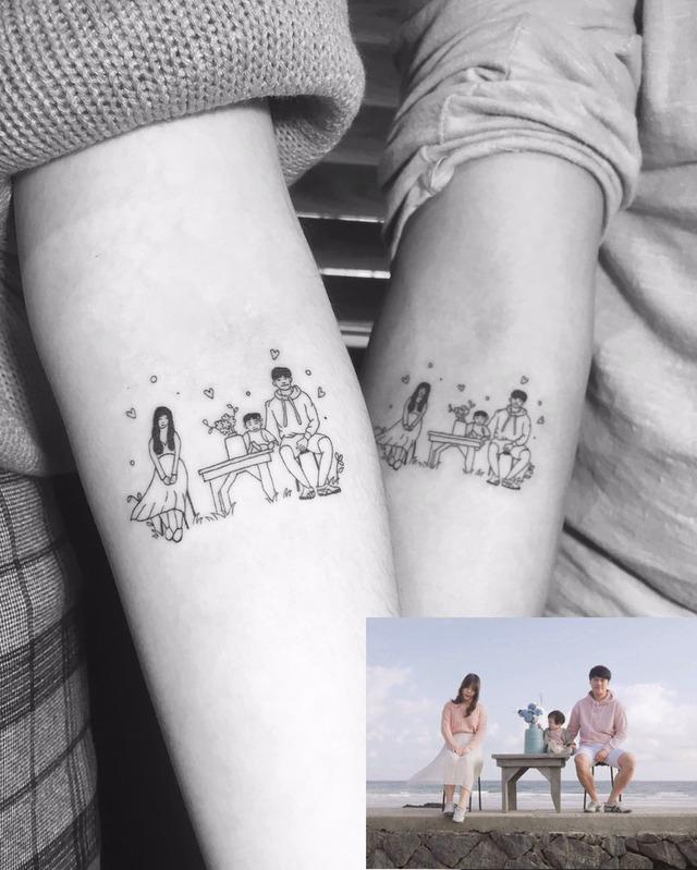 刺亲情才不会后悔,家人的爱永远都在:「亲情刺青」席卷韩国市场图片