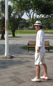 UNIQLO, 45RPM, MAMASITA, JUNYA WATANABE SHIRT, BANDANA, HAT, SHOES的穿搭