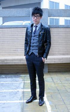 時尚穿搭:正裝X皮衣