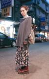 日本帶回尼泊爾製 束口包的時尚穿搭