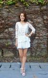 上海路邊攤 布蕾絲雪紡上衣的時尚穿搭