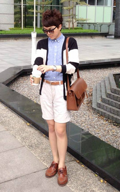 時尚穿搭:Day 12: Typical preppy look*