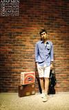 NMJ 英國/韓代理品牌 KING國旗軍徽牛仔襯衫的時尚穿搭