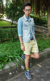 SAUCONY 藍灰慢跑鞋的時尚穿搭