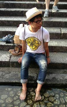 時尚穿搭:the Stone Roses@賀茂御祖神社