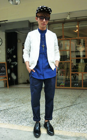 WISDOM DOUBLE-PLEAT PANTS的穿搭