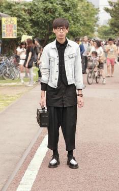 時尚穿搭:黑X丹寧
