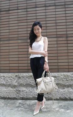 時尚穿搭:black and white outfit