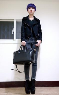 時尚穿搭:黑 X 銀