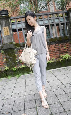 時尚穿搭:Casual all grey style