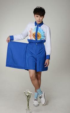 時尚穿搭:雛菊印花之小王子 #雛菊高腰褲裙Look