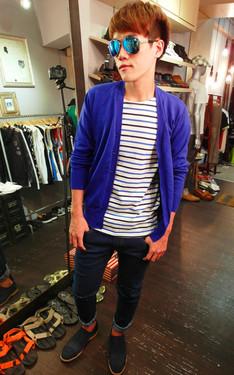時尚穿搭:藍色日