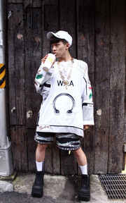 WIA BIG PATCH SHIRT的穿搭