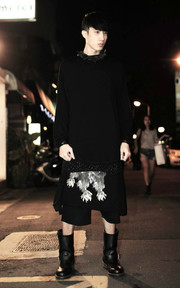 STAMPD STAMPD SPECKLED DOUBLE LAYER LONGSLEEVE BLACK 的穿搭