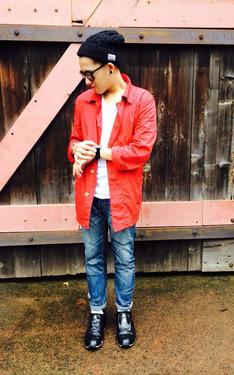 時尚穿搭:紅白藍