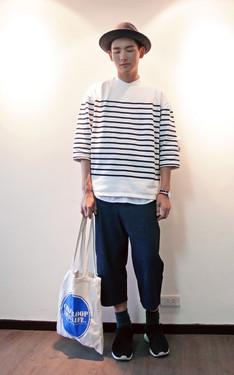 時尚穿搭:藍白與休閒