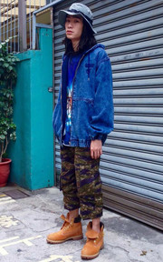 INTERBREED CHEMICAL WASHED HOOD JACKET的穿搭