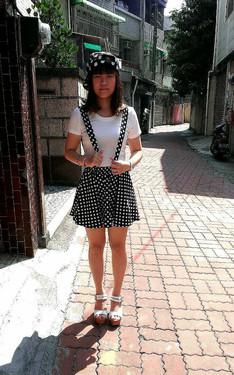時尚穿搭:黑白點