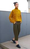 HI EARTH(!) 【進口修身高腰直筒軍綠九分西裝褲】的時尚穿搭