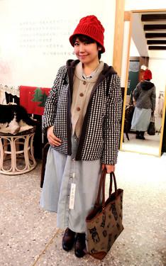 時尚穿搭:好溫暖的膨膨感舖棉外套