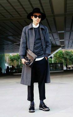 時尚穿搭:灰黑 (白襯衫系列三十)