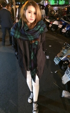 時尚穿搭:逛夜市的韓風 X 好冷