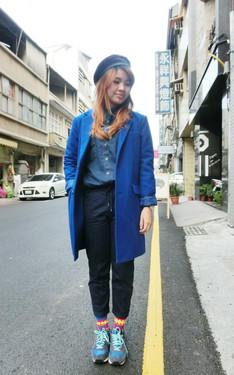 時尚穿搭:藍色小精靈