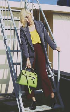 時尚穿搭:暖冬黃綠紅