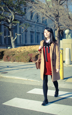 時尚穿搭:Outfit 41│Burgundy Knitted Dress