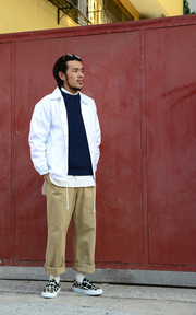 YAECA CHINO CLOTH PANTS - WIDE的穿搭