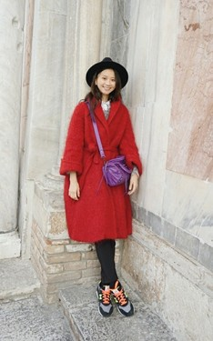 時尚穿搭:burgundy style in winter