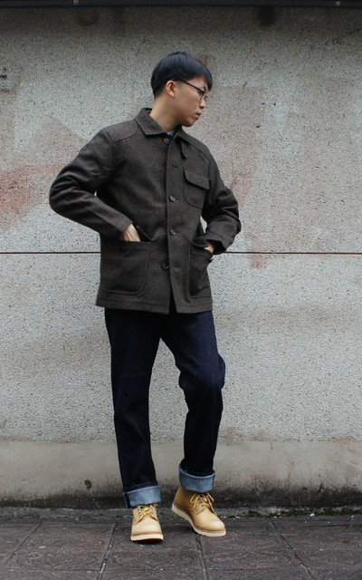 適合VINTAGE、AMERICAN CASUAL、OUTDOOR、WORKWEAR STYLE、日常穿搭、工作的時候、WORK DAY、工作靴、RED WING的穿搭