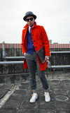 BANANA REPUBLIC 橘色羊毛大衣的時尚穿搭