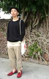 PLAIN-ME 低檔寬褲的時尚穿搭