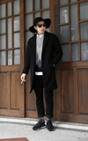 韓國 OVERSIZE 鐘型落肩大衣的時尚穿搭