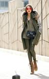 H&M 仿皮褲的時尚穿搭
