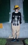 STONE'AS 襯衫式大學T的時尚穿搭