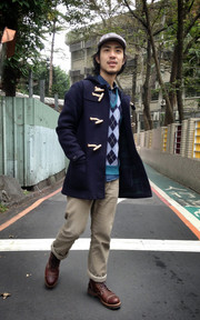 GLOVERALL DUFFLE COAT的穿搭