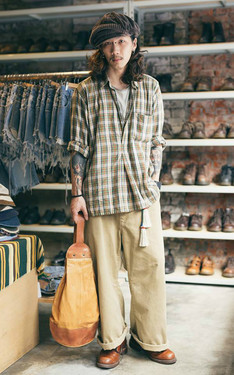 時尚穿搭:格紋與色系混著