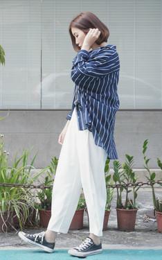 時尚穿搭:藍色跟白色是好朋友