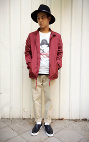 CANVAS COACH JACKET的穿搭