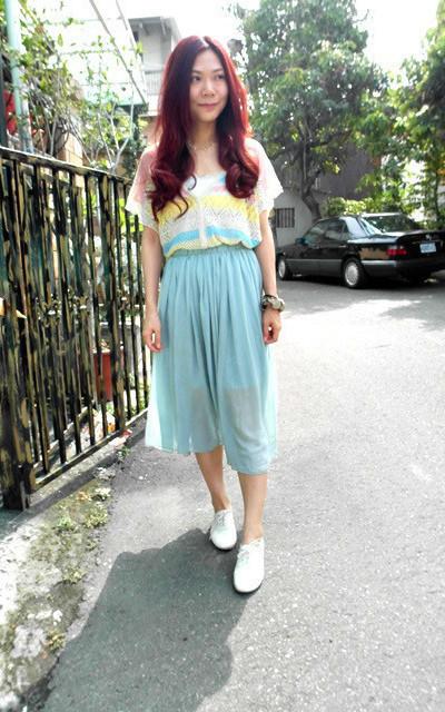 適合紗裙、日系休閒、平日、出遊。的穿搭